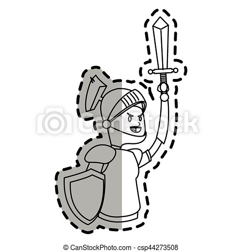 knight cartoon icon - csp44273508