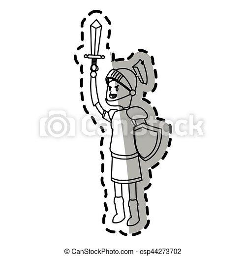 knight cartoon icon - csp44273702