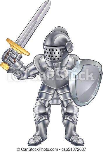 Knight Cartoon Mascot Character