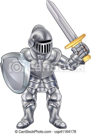Knight Cartoon Mascot