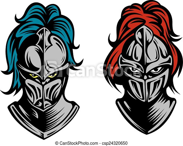 knight heads in medieval armour heads of two knights in clipart vector search illustration red circle with line through it clipart Circle Line through It with No Background