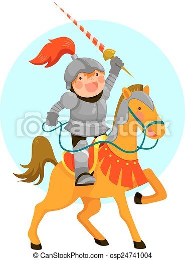knight on a horse - csp24741004