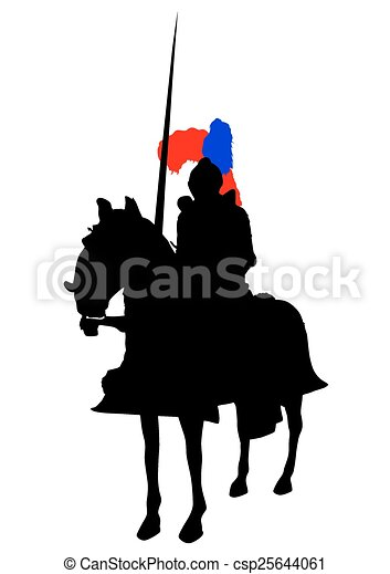 Knight on horse - csp25644061