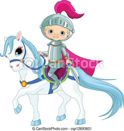 Knight on horse - csp12693601