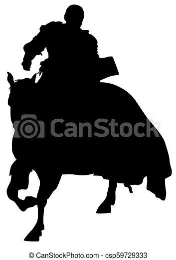 Knight on horseback eight - csp59729333