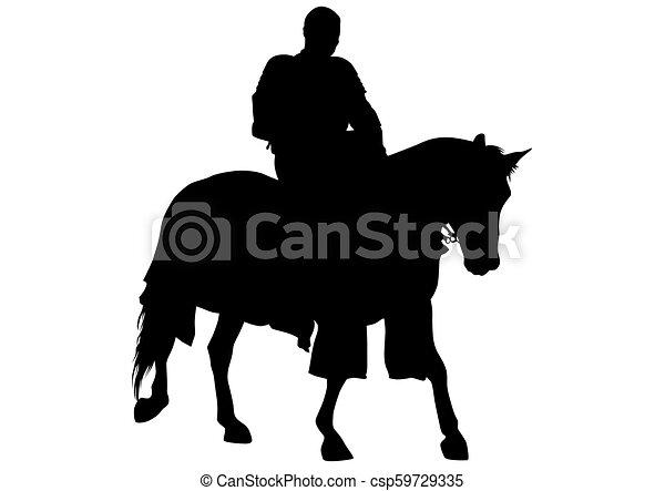 Knight on horseback four - csp59729335