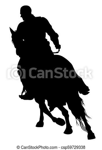 Knight on horseback seven - csp59729338