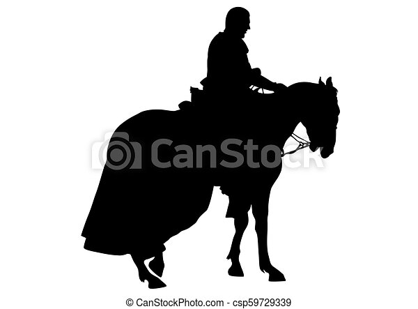 Knight on horseback six - csp59729339