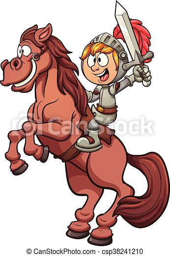 Knight riding a horse - csp38241210