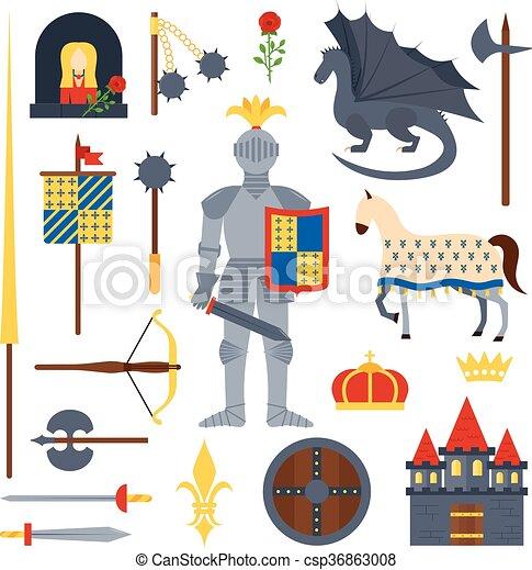 knight symbols vector illustration. - csp36863008