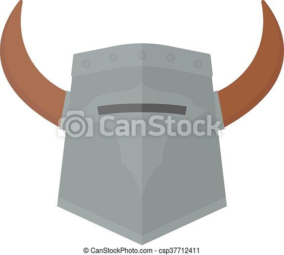 Knight viking helmet vector illustration. Viking helmet... vector ...