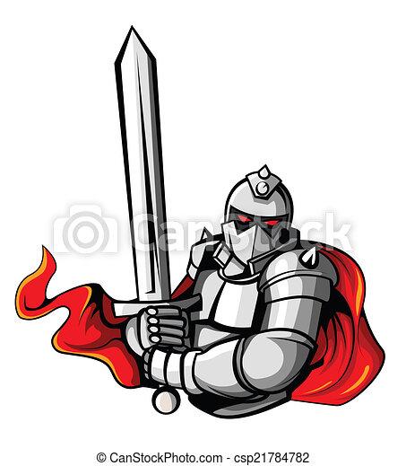 Knight Warrior Vector Illustration - csp21784782