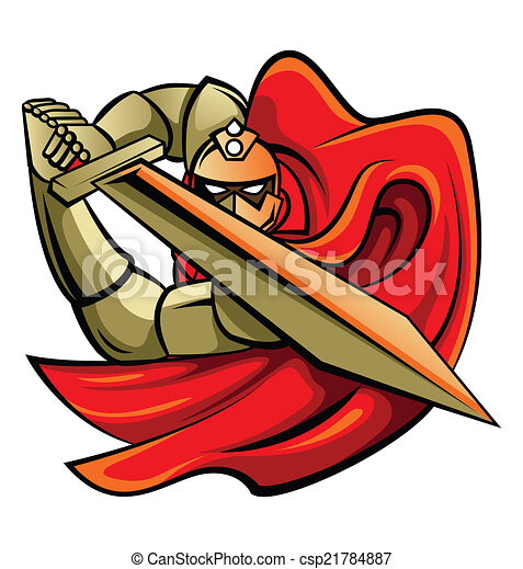 Knight Warrior Vector Illustration - csp21784887