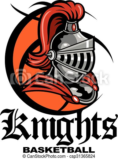 knights basketball team design with mascot helmet inside a vector rh canstockphoto com free vector artwork national grid free vector artwork for screen printing