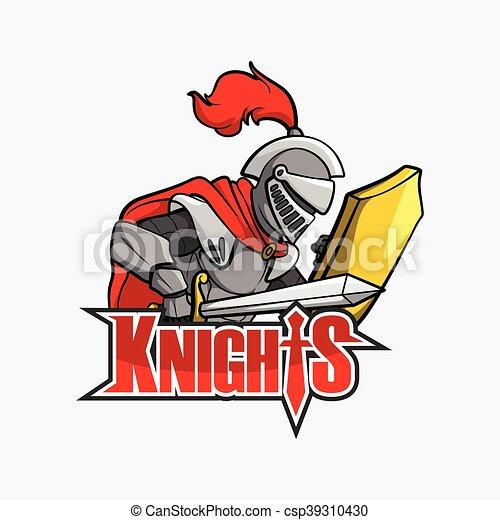 knights illustration design - csp39310430