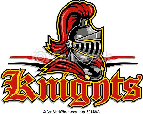 knights mascot design - csp18014863