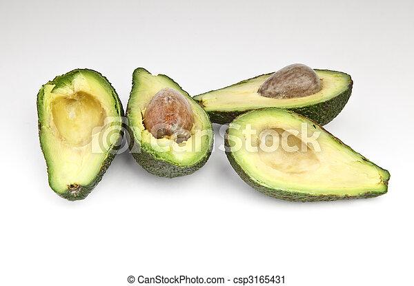 knippen, avocado, fruit - csp3165431