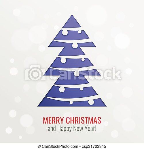 knippen, boompje, vector, achtergrond, kerstmis, uit - csp31703345