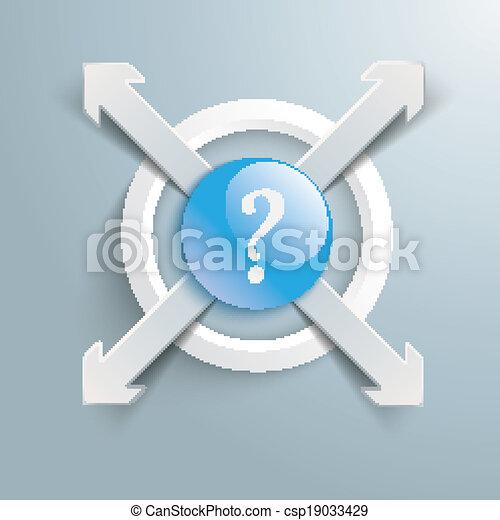 Knippen Centrum Vraag Pijl Papier 4 Ring Pijl Vector