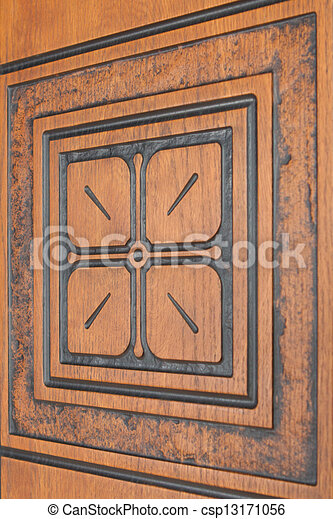 knippen, ornament, plank, uit - csp13171056