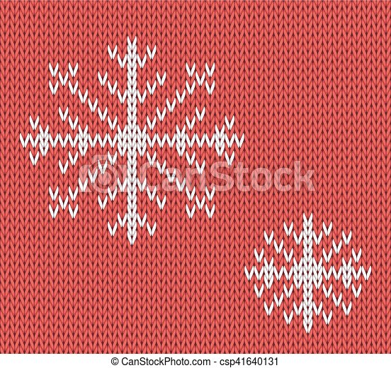 Knit Seamless Pattern With Snowflakes Wool Background Vector