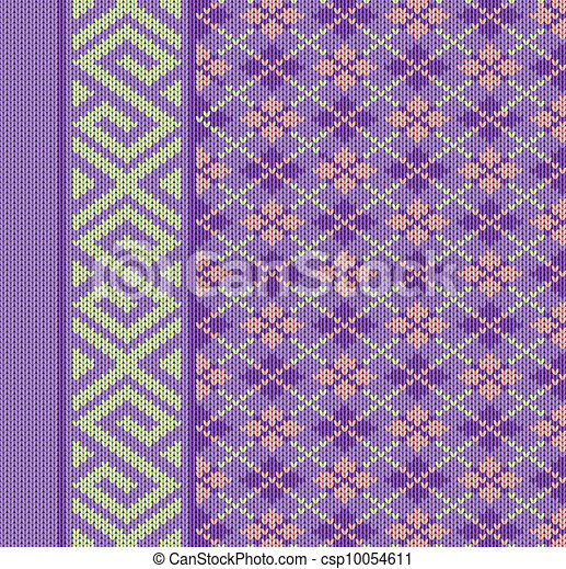 Knit texture for book cover or flayer design - csp10054611