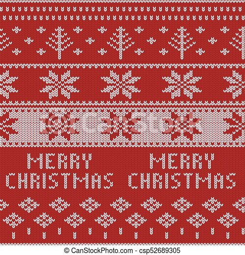 knitted christmas sweater pattern with deers fir trees snowflakes winter fabric background