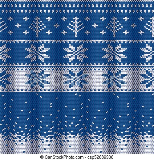 Christmas Sweater Background.Knitted Christmas Sweater Pattern With Deers Fir Trees Snowflakes Winter Fabric Background