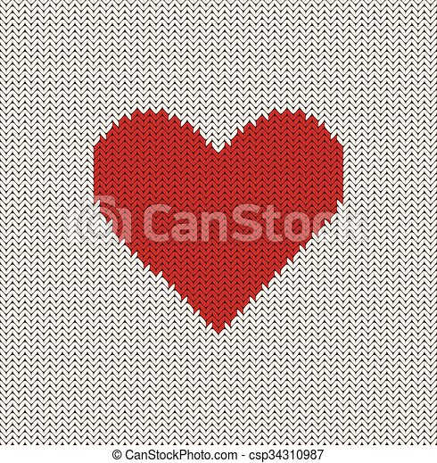 Knitted Heart Knitted Valentines Heart Pattern