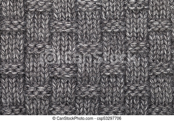 3af72f6c08ff8a Knitted melange textile pattern. Grey knitted fabric made of ...