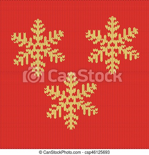 Knitted Snowflake Pattern Sweater Design Pattern With Decorative