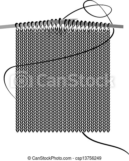 knitting needles with stiches knitting illustration eps