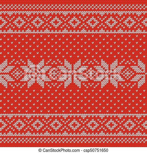 Christmas Texture.Knitting Scandinavian Texture Knit Christmas Seamless Pattern Vector