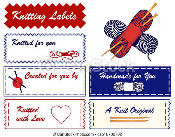 Knitting sewing labels yarn wool skeins heart love wood knitting sewing labels csp16700702 solutioingenieria Images