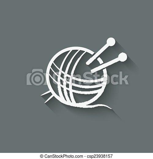 knitting symbol - csp23938157