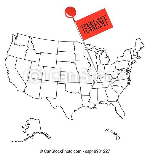 Knob Pin Tennessee - csp49931227