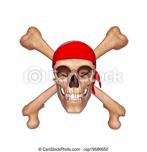 Knochen, menschlicher schädel. Geleistet, totenschädel, abbildung ...