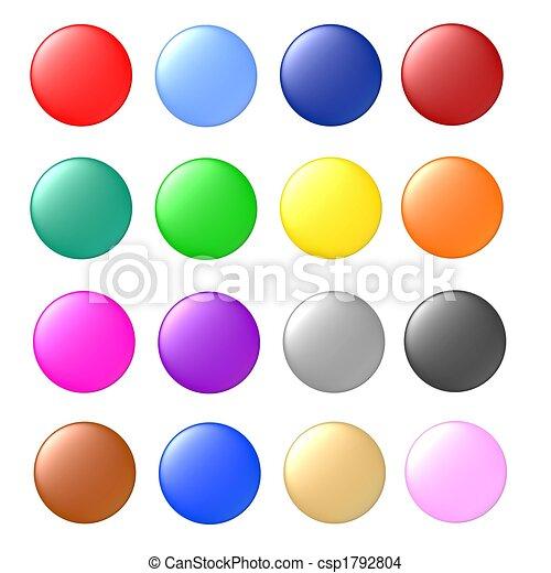 knopen, set, gekleurde - csp1792804