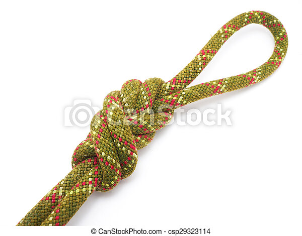 knot on a white background - csp29323114