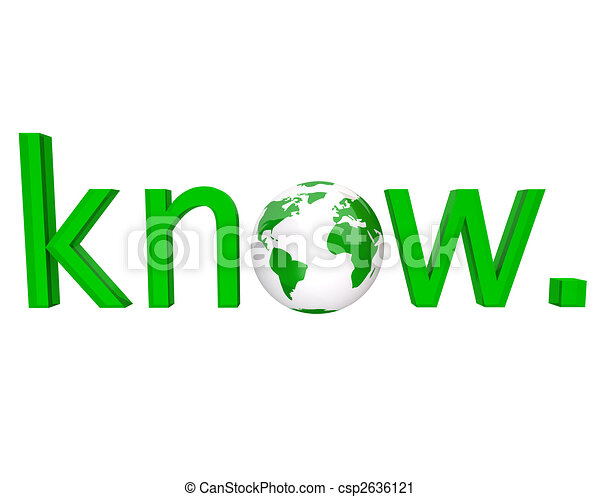 Know - Green Word and Earth - csp2636121