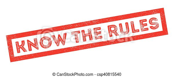 Know the rules rubber stamp - csp40815540