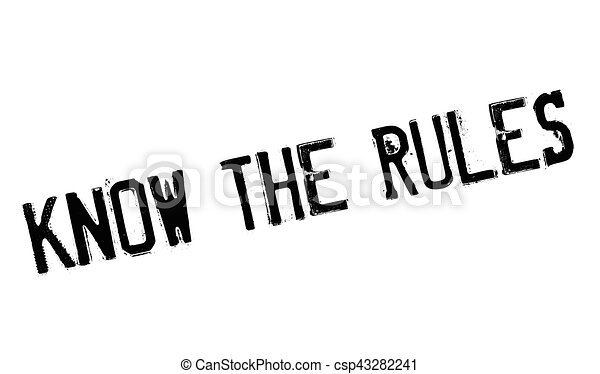 Know The Rules rubber stamp - csp43282241