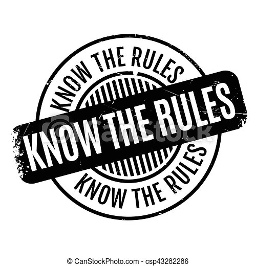 Know The Rules rubber stamp - csp43282286