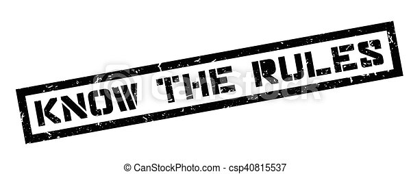 Know the rules rubber stamp - csp40815537