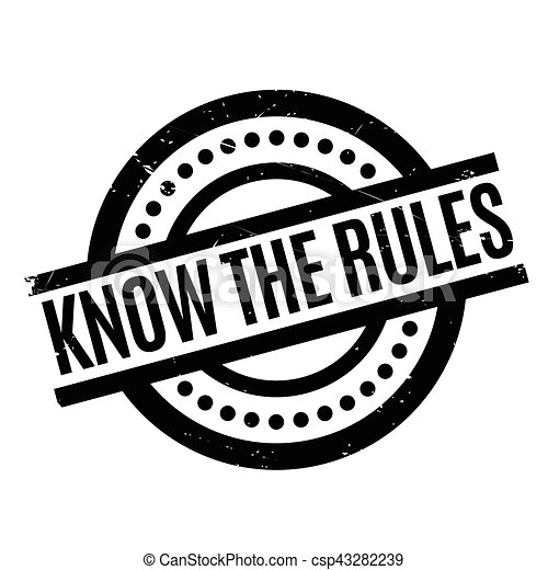 Know The Rules rubber stamp - csp43282239