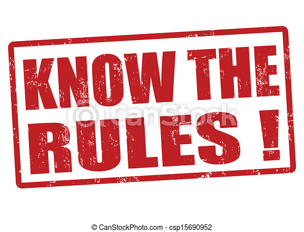 Know the rules stamp - csp15690952