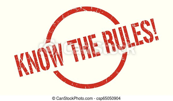 know the rules! stamp - csp65050904