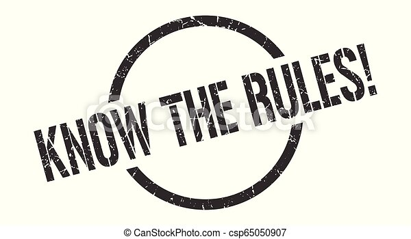 know the rules! stamp - csp65050907