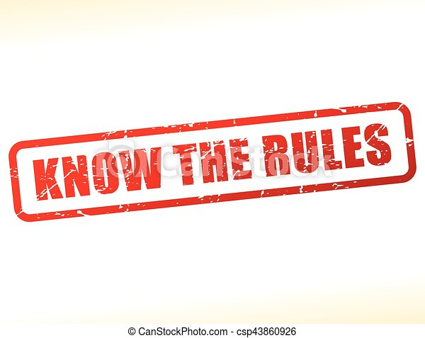know the rules text stamp - csp43860926