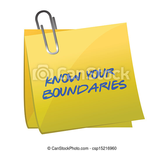 know your boundaries. illustration design - csp15216960